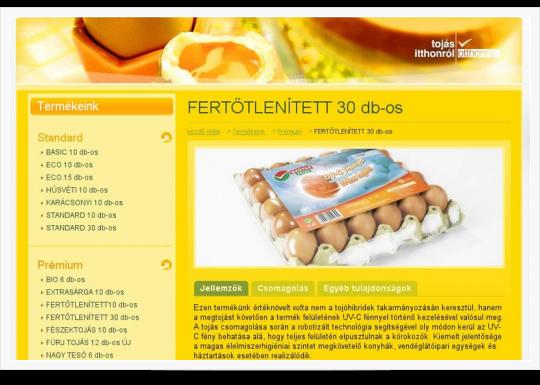Magyar Tojás Kft. - fertőtlenített tojás