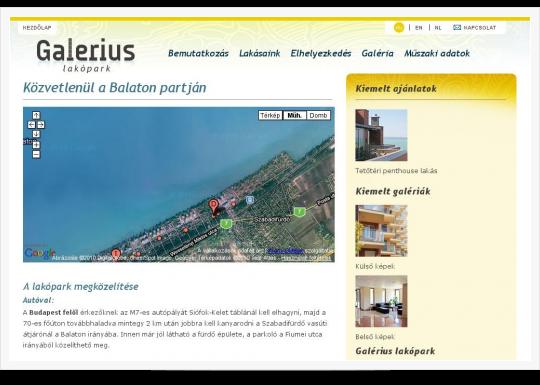 Galerius Lakópark Siófok - elhelyezkedés