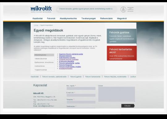 Mikrolift - egyedi megoldások