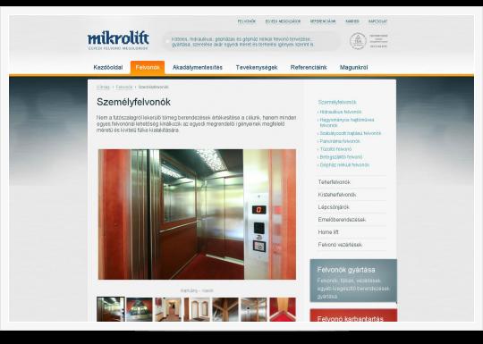 Mikrolift - személyfelvonók