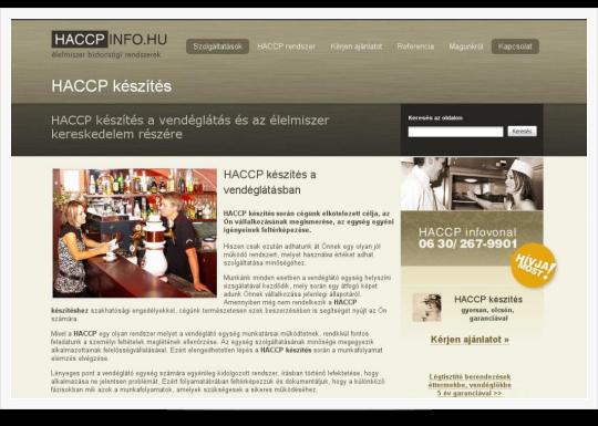 HACCPInfo - HACCP készítés